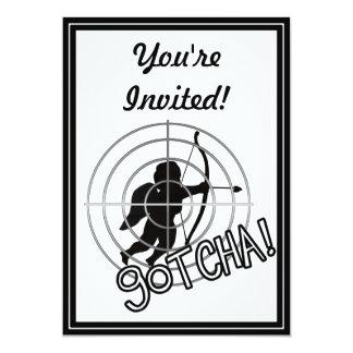 ¡Gotcha en vista! Invitación 12,7 X 17,8 Cm