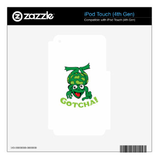 GOTCHA FROG iPod TOUCH 4G DECAL