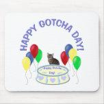 Gotcha gatito feliz del día alfombrilla de raton