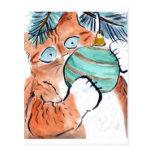 Gotcha Green Ornament says Tiger Kitty Postcard