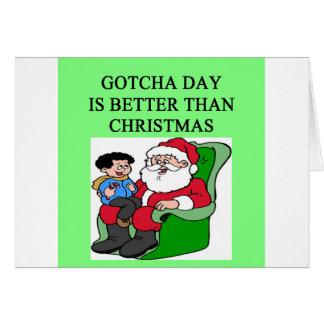 gotcha idea del navidad de la adopción del día felicitaciones