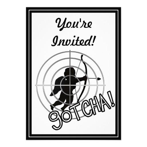 Gotcha In Sight! Personalized Invites