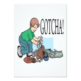 Gotcha 5x7 Paper Invitation Card