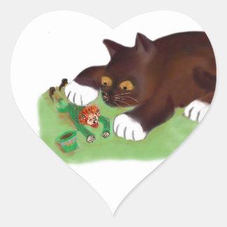 Gotcha Leprechaun Says Kitten Heart Sticker