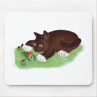 Gotcha Leprechaun Says Kitten Mouse Pad