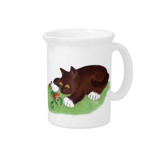 Gotcha Leprechaun Says Kitten Beverage Pitcher
