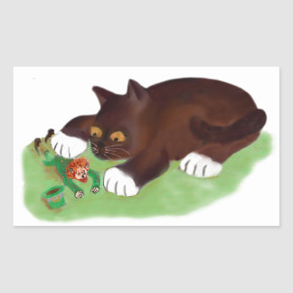 Gotcha Leprechaun Says Kitten Rectangular Sticker