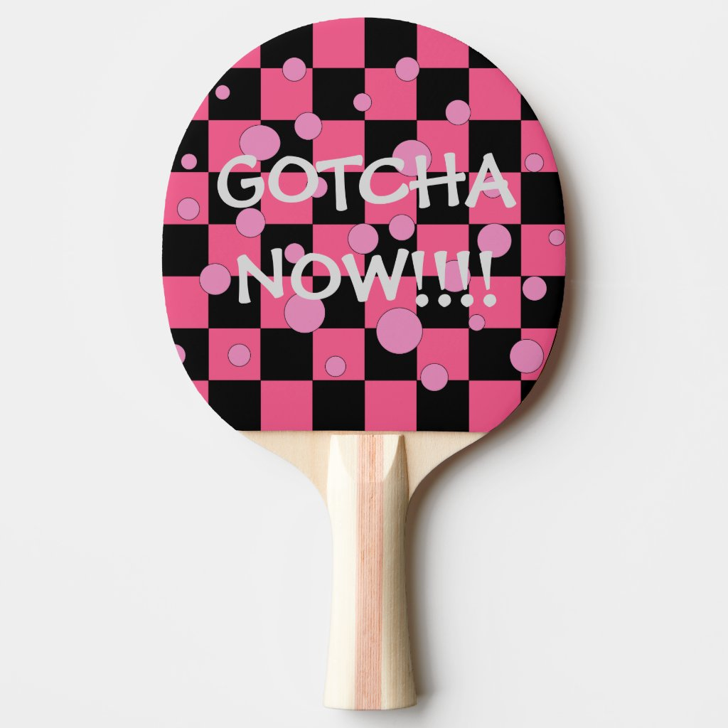Gotcha Now Pink Ping Pong Paddles Nifty Fun