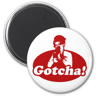 Gotcha Sarah Palin Gun Right to Bare Arms 2 Inch Round Magnet