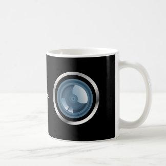 ¡Gotcha! Taza de la lente de cámara Taza Básica Blanca