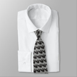 Gotcha You Looked Game Tie SMALL grey