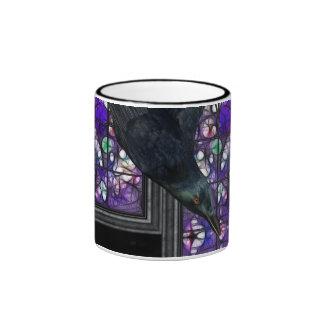 Gotchi Raven Stained Glass Gothic Digital Art Mugs