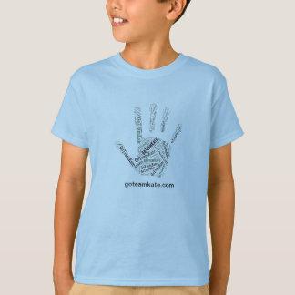 GoTeamKate Kid's T-Shirt Blue Hand