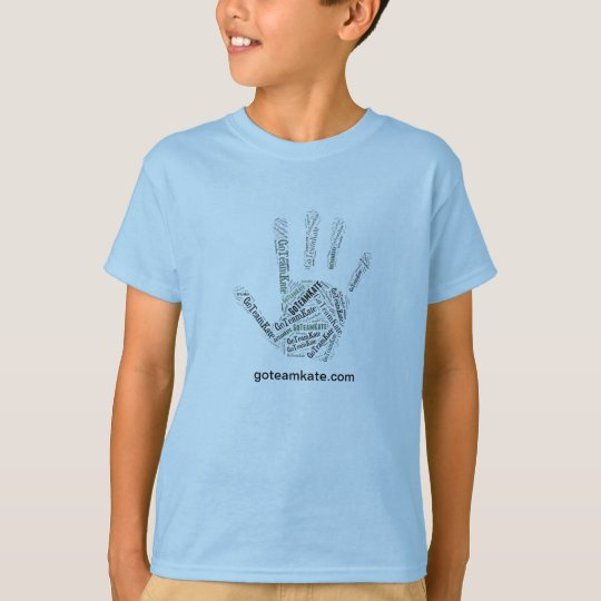 GoTeamKate Kid's T-Shirt Blue Hand