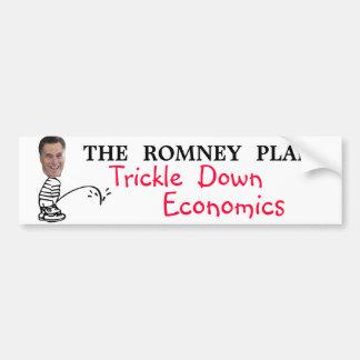 Gotee abajo la economía.  El plan de Romney Pegatina De Parachoque