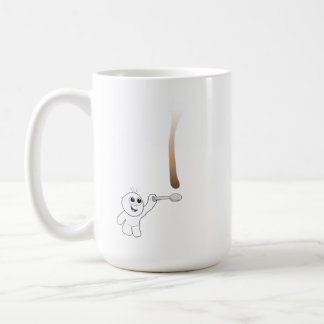 Gotee la gota de cogida del café del individuo con tazas