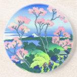 Goten-Yama Hill Cherry Blossom Fine Art Beverage Coasters