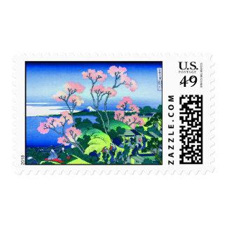 Goten-Yama Hill Cherry Blossom Fine Art Stamps