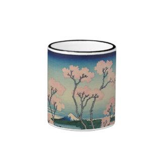 Goten-yama Hill Hokusai Japanese Fine Art Ringer Mug