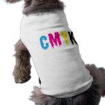 Goteo CMYK Camisetas De Perro