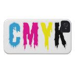 Goteo CMYK iPhone 4 Case-Mate Cárcasas