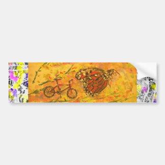 goteo de la mariposa de monarca pegatina para auto
