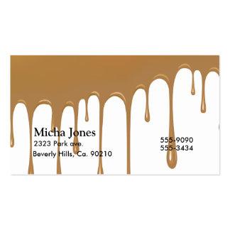 Goteo del caramelo plantillas de tarjeta de negocio