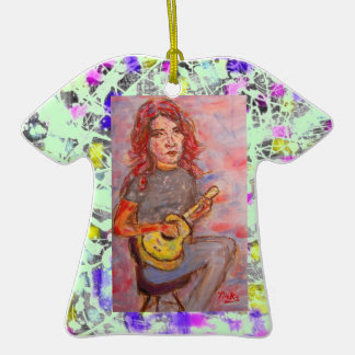goteo del chica del ukulele ornaments para arbol de navidad