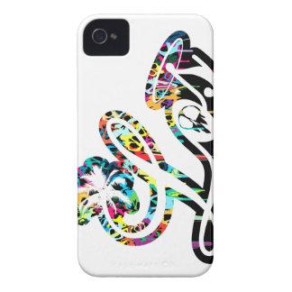 Goteo del color del cráneo de la cubierta del iPho iPhone 4 Case-Mate Protectores