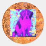 goteo del perro del beagle pegatina redonda