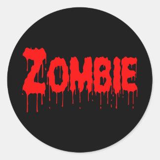 Goteo del zombi pegatina redonda