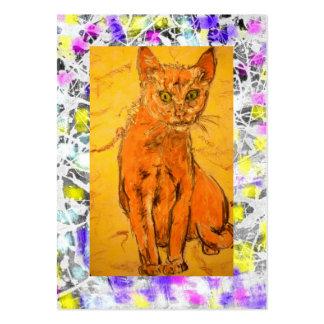 goteo fresco del gato plantilla de tarjeta personal