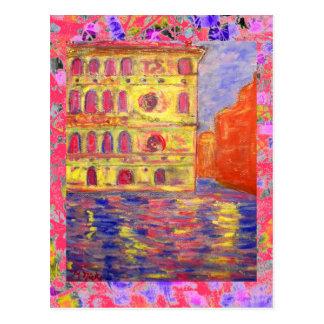 goteo ligero colorido de Venecia Postal