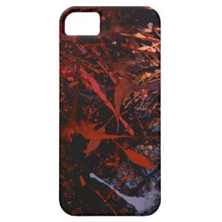 Goteos abstractos de la pintura funda para iPhone 5 barely there