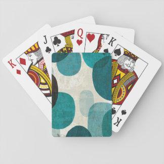 Goteos azules baraja de póquer