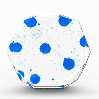 Goteos azules de la pintura