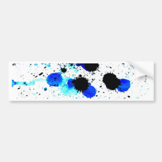 Goteos azules de la pintura pegatina para auto