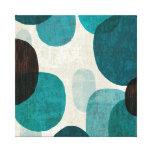 Goteos azules impresión en lienzo estirada