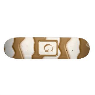 Goteos - chocolate con leche y chocolate blanco tablas de patinar