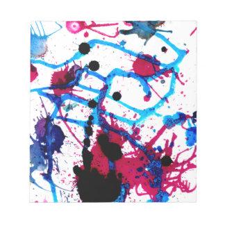 Goteos coloridos 12 de la pintura libretas para notas