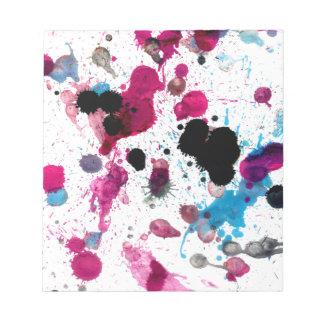 Goteos coloridos 13 de la pintura blocs de papel