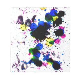 Goteos coloridos 3 de la pintura bloc