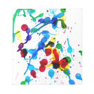 Goteos coloridos 4 de la pintura blocs de notas