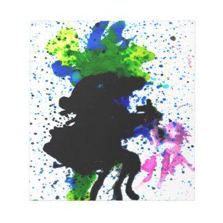 Goteos coloridos 5 de la pintura blocs de papel