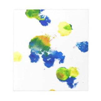 Goteos coloridos 6 de la pintura blocs de papel