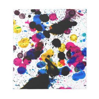 Goteos coloridos 7 de la pintura libretas para notas