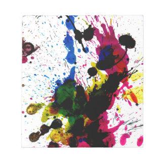 Goteos coloridos 8 de la pintura bloc de notas