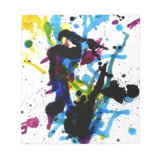 Goteos coloridos 9 de la pintura libretas para notas