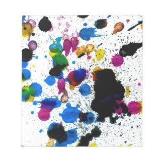 Goteos coloridos de la pintura blocs