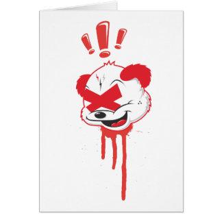 Goteos de la panda tarjeta de felicitación